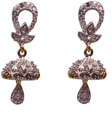 Rejewel Rejewel AD Long Earrings Alloy Jhumki Earring