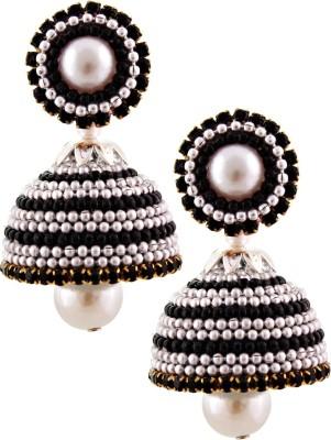 Jaipur Raga Hancrafted Ballchain Multicolor Jhumka Brass Jhumki Earring