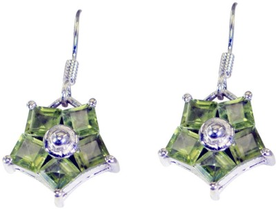 Riyo Pretty Peridot Peridot Sterling Silver Dangle Earring