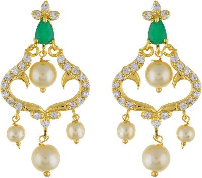 Jewel Planet Enthic Pearl Alloy Chandbali Earring