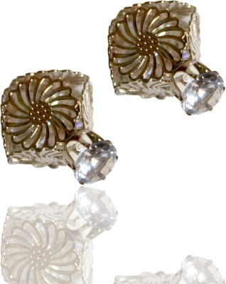 Subharpit Pretty Floral Crystal Crystal Alloy Stud Earring