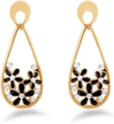 Jazz Jewellery Fashion Jewelrly Flower Design Black Jazz Jewellery Drop Earrings Alloy Drop Earring