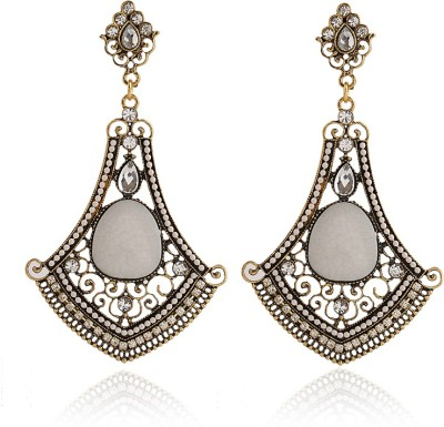 Insia Empress Ivory Alloy Dangle Earring