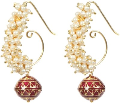 Envy Lariya Pearl Fabric Dangle Earring