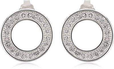 Om Jewells Circlo Circle Cubic Zirconia Sterling Silver Stud Earring
