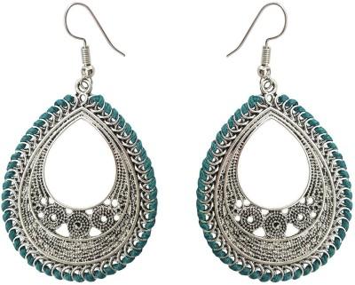 Mehrunnisa Oxidized Silver Tone For Girls Metal Dangle Earring