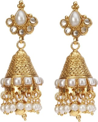 Rays KJM555 Pearl Copper Jhumki Earring