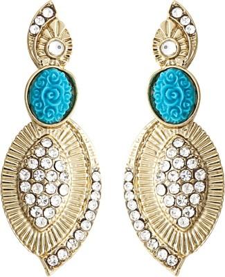 Radius Blue Rose Zircon Metal Stud Earring