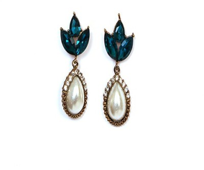 Johara Fashion JF20 Pearl Stone Drop Earring