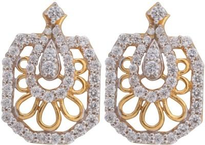 Asure Jewel Victory Yellow Gold Stud Earring