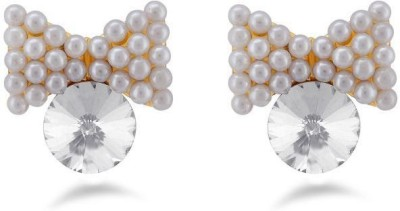 Jazz Jewellery Butterfly Design White Color Earrings For Womens Alloy Drop Earring