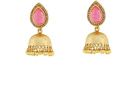 Art Nouveau Traditional Plated Beautiful Design Brass Jhumki Earring