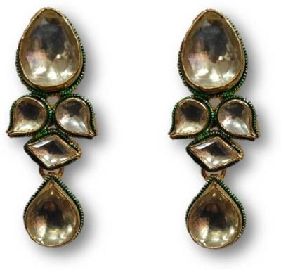 Rajgharana Kundan Dezire Cubic Zirconia Alloy Drop Earring