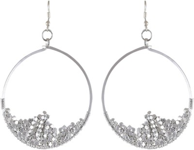 Arittra SILVER ROUND Crystal, Metal Dangle Earring
