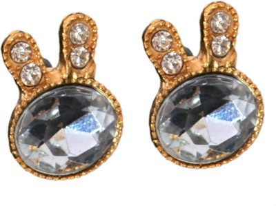 Ak Zopping Collection Alloy Silver Stud Crystal Earring Metal Stud Earring