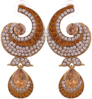 Grandiose Stone diamond Non-Precious Metal Copper Drop Earring