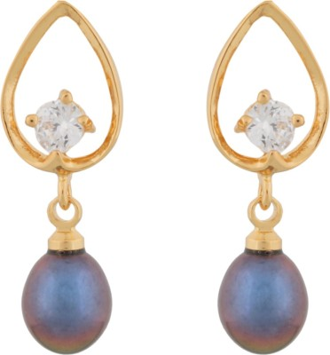 Janki Jewellers New Trend Pearl Alloy Drop Earring