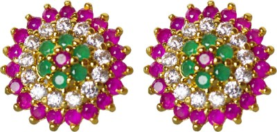 Jewelgrab Elegant Multicolor Ruby Alloy Stud Earring