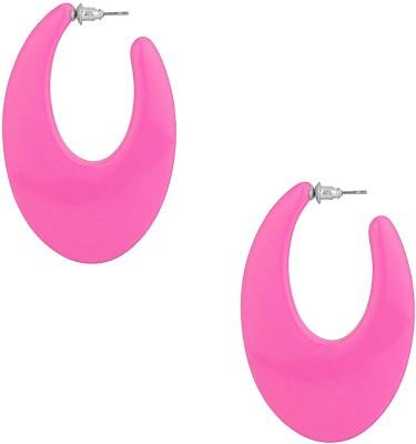 Aaradhya Precious Plastic Hoop Earring