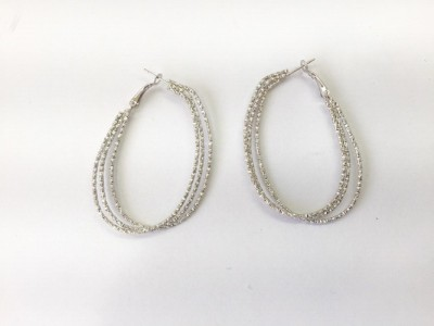 Arkina Diamonds Wired mesh Brass Hoop Earring