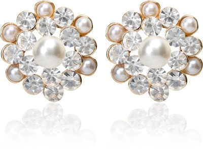 Svelte Unique Exclusive Crystal Alloy Stud Earring