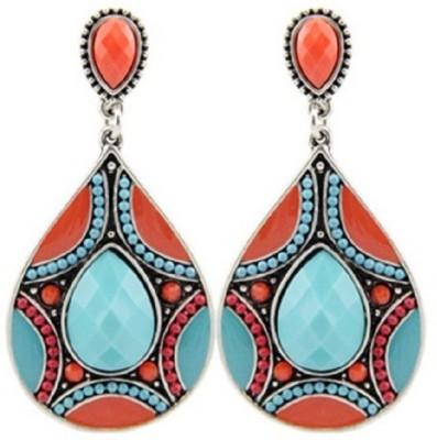 Stile Multicolour Resin Dangle Earring