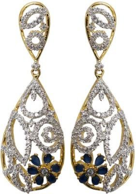 Sheetal Jewellery Cubic Zirconia Brass, Alloy Drop Earring
