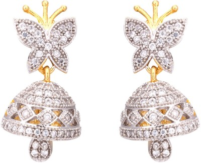 Fashion Frill New AD Metal Jhumki Earring