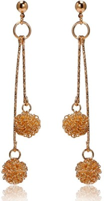 Glitz Vintage Fashion Crystal Ball Long Alloy Drop Earring