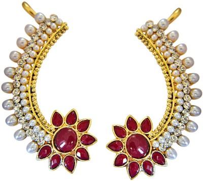 Surat Diamond Zenith of Love Pearl Metal Cuff Earring