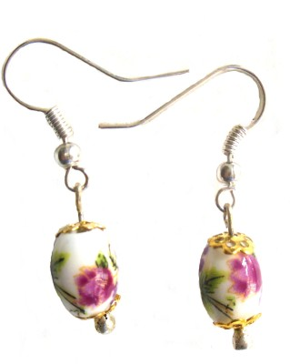 Bohocraft Bohemian Ceramic Dangle Earring