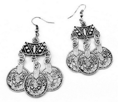 Eterno Fashions Exotic Turkish Gypsy Coin Alloy Drop Earring