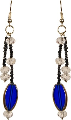Retaaz Azul Ardour Acrylic, Crystal, Steel Dangle Earring