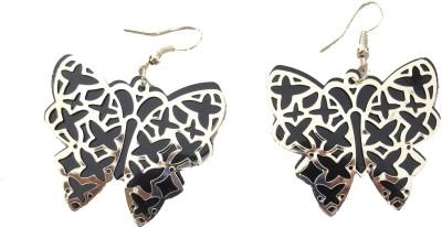 MH ButtlerFly Crystal Plastic Dangle Earring