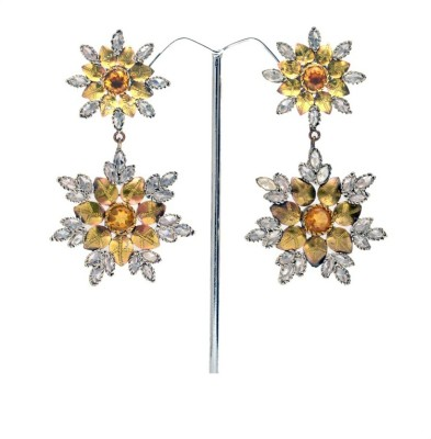 Reva Spring Sparkle Alloy, Metal Drop Earring
