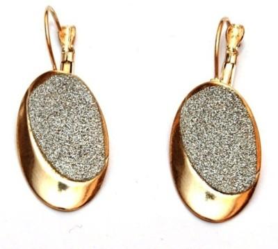 Jodhpuriyas BEAUTYFUL OVEL LOVELY GOLD SILVER EARRING Alloy Huggie Earring