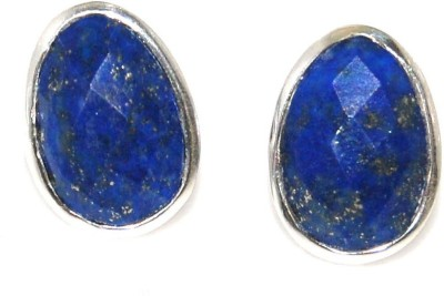 Arvino Princess Lapis Lazuli Sterling Silver Stud Earring