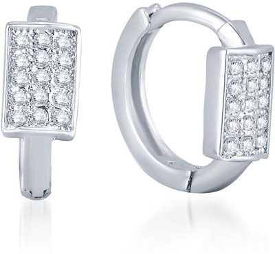 Sukkhi Stylish Micro Pave Alloy Huggie Earring