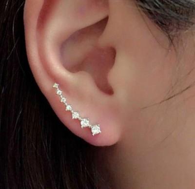 Ruvee Elemental Stars Hook Alloy Cuff Earring