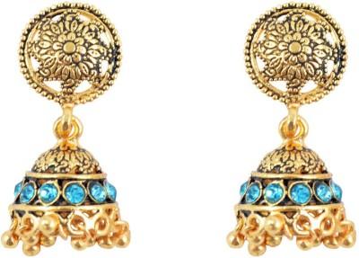 Diovanni Celebrity,S Jhoom Barabar Jhoom Golden Metal Jhumki Earring