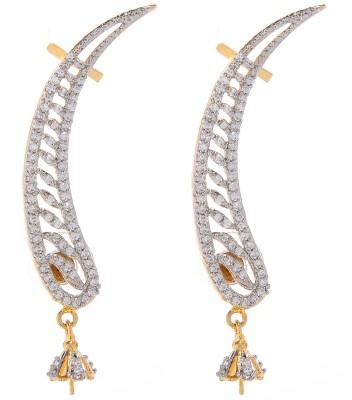Nazakat J09a8448 Zircon Alloy Cuff Earring