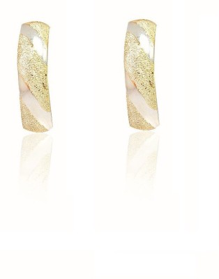 LeCalla Shimmer LightWeight Half Sterling Silver Hoop Earring