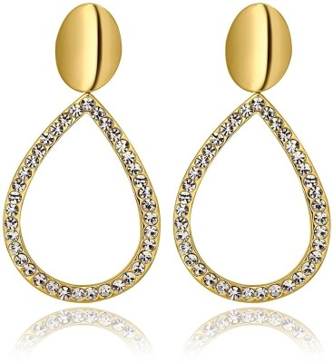 iSweven fashion 18k gold plated grandes Latest Fashion Luxury Jewelry ED2539 Zircon Alloy Drop Earring