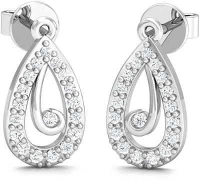 Stylori Tiosta Drops White Gold 18kt Diamond Drop Earring