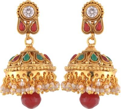 Royal Lady Festive Copper Jhumki Earring
