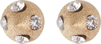 Siyora Classic White Brass Stud Earring