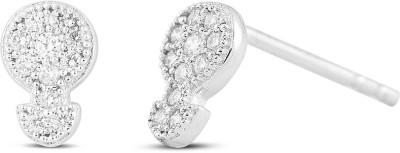 Araanz by Tribhovandas Bhimji Zaveri Delhi Alluring Victory White Gold 18kt Diamond Stud Earring