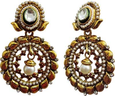 Yogada Ethnic005 Alloy Chandbali Earring