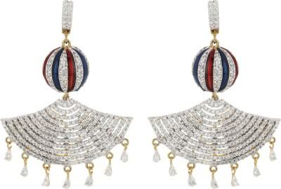 Fashionage Ethnic Charm Alloy Chandbali Earring