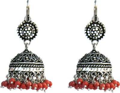 Aashirwad Hook Oxodise Silver Jhumki Earring